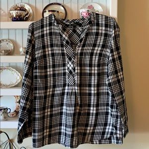 Talbots Long Sleeve Cotton Blouse